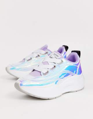Sixty Seven Sixtyseven holographic chunky trainer-Beige