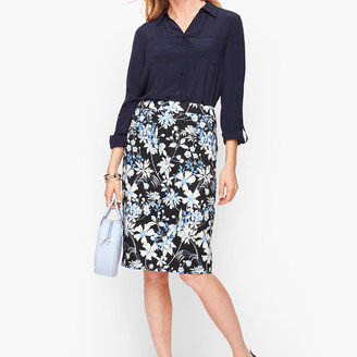 Talbots Garden Pencil Skirt