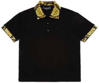 Versace Kids Baroque-Trim Polo Shirt (4-14 Years)