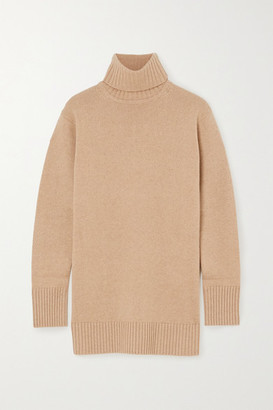 Max Mara Wool And Cashmere-blend Turtleneck Sweater - Tan