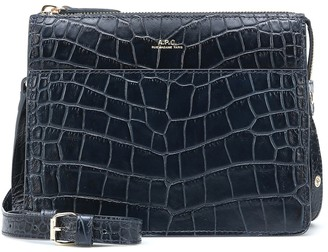 A.P.C. Ella Mini croc-effect shoulder bag
