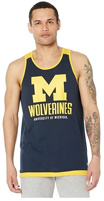 Champion College Michigan Wolverines Field Day Fashion Tank (Gear Navy/John Deere Yellow) Men's Sleeveless