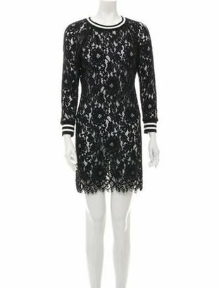 Veronica Beard Lace Pattern Mini Dress Black