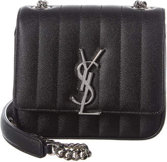 Saint Laurent Small Vicky Matelasse Leather Shoulder Bag