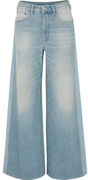 MM6 MAISON MARGIELA High-rise Wide-leg Jeans - Mid denim