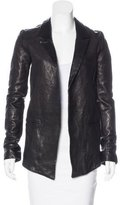 RtA Denim Leather Open Front Jacket w/ Tags