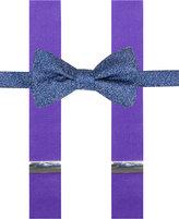 Alfani Purple Bow Tie & Suspender Set, Created for Macy's