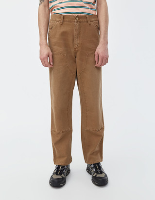Carhartt Wip Double Knee Canvas Pant in Hamilton Brown