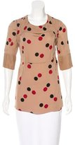 Marni Polka Dot Short Sleeve Blouse