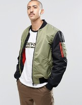 Converse Ma-1 Bomber In Green 10001128-a03
