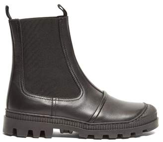 Loewe Tread-sole Leather Ankle Boots - Womens - Black