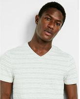 Express jacquard jersey stripe v-neck tee