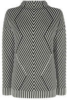 Karen Millen Striped Knitted Jumper