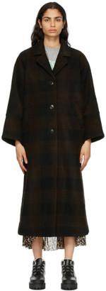 Ganni Brown Wool Oversized Coat