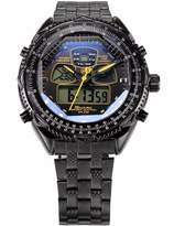Shark MIX & ROCK NA ver Men's Yellow Digital Dual Time Chronograph Alarm Stainless Steel Quartz Watch