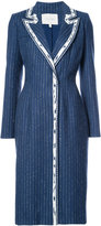 Carolina Herrera contrast lapel coat