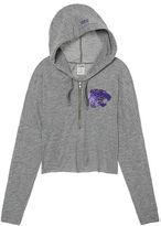 PINK Kansas State University Varsity Cropped Half-Zip Hoodie