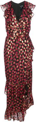 Saloni Anita floral-print ruffled dress