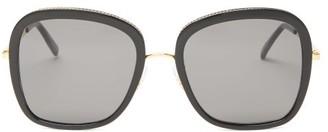 Stella McCartney Oversized Square Bio-acetate And Metal Sunglasses - Womens - Black