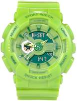 YLJHCYGG Boys Watch Orange Multifunction Dual Dial Analog Digital Jelly Colorful Watches For Kids