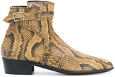 Paul Smith faux snakeskin ankle boots