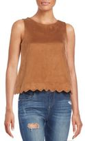 Romeo & Juliet Couture Faux Suede Top