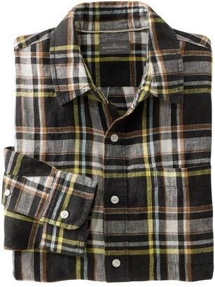 L.L. Bean Men's Signature Linen Shirt, Long-Sleeve, Plaid
