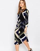 Warehouse Multi Stripe Shirt Dress