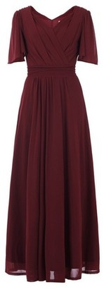 Dorothy Perkins Womens *Jolie Moi Burgundy Flute Sleeve Maxi Dress, Burgundy