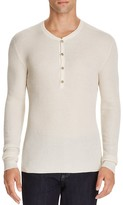 John Varvatos Collection Silk Cashmere Waffle Knit Henley Sweater