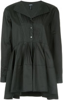 Jil Sander Navy frilled fitted blouse