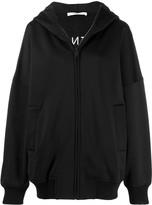 Givenchy logo oversized hooded zipper