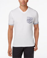 INC International Concepts Men's Print-Blocked V-Neck T-Shirt, Only at Macy's