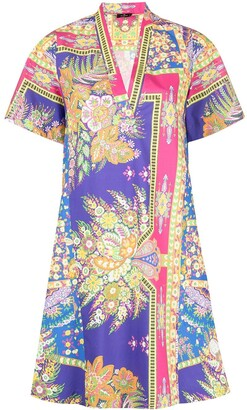 Etro Floral-Print Shift Dress