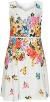 Tia Dresses Plus Size Sweetheart neck floral dress