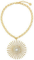 Vince Camuto Gold-Tone Sunburst Pendant Necklace