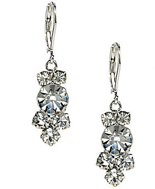 Cezanne Crystal Cluster Drop Earrings