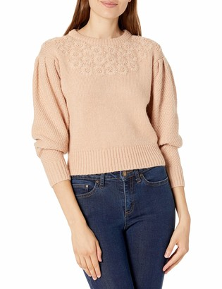 ASTR the Label Women's Samantha Embellished Long Sleeve High Neck Sweater