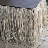 Fun Express Tiki Bar Raffia Table Skirt - Thatch