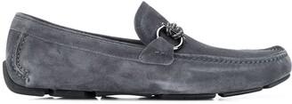 Salvatore Ferragamo Gancini driver suede loafers