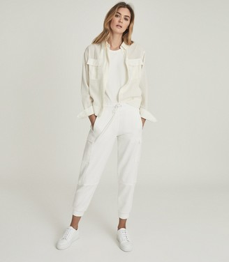 Reiss JUNIE RELAXED TWIN POCKET OVERSHIRT Pale Yellow