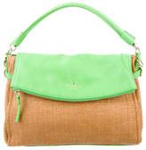 Kate Spade Straw & Leather Crossbody Bag