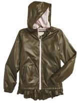 Michael Kors Girl's Ruffle Windbreaker Jacket