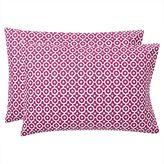 Bohemian Geo Pillowcases, Set of 2, Berry