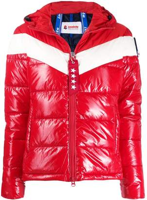 Invicta color-block hooded puffer jacket