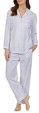 Eileen West Geometric Print Collared Pajama Set