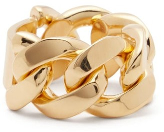 Bottega Veneta Chunky Chain-link Ring - Yellow Gold