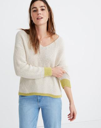 Madewell Tipped Ridgeton Pullover Sweater