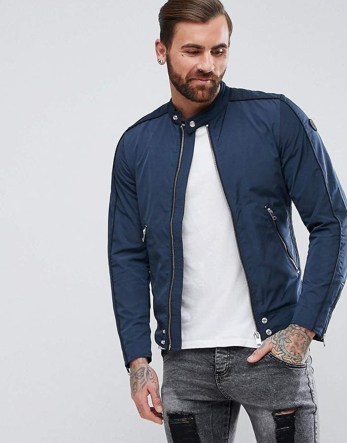 Diesel J-QUAD Nylon Biker Jacket