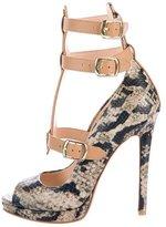 Vivienne Westwood Embossed Leather Peep-Toe Sandals